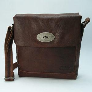 Sac bandoulière en cuir pour homme : Oregon brown