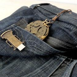 Clé USB steampunk - Crypetex- vintage