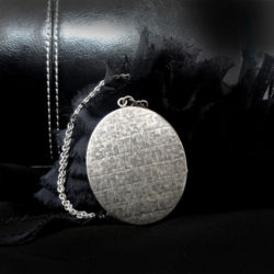 collier argent de perles du temps, pendentif femme vintage, pendentif victorien porte-photo, médaillon personnalisé de perles du temps