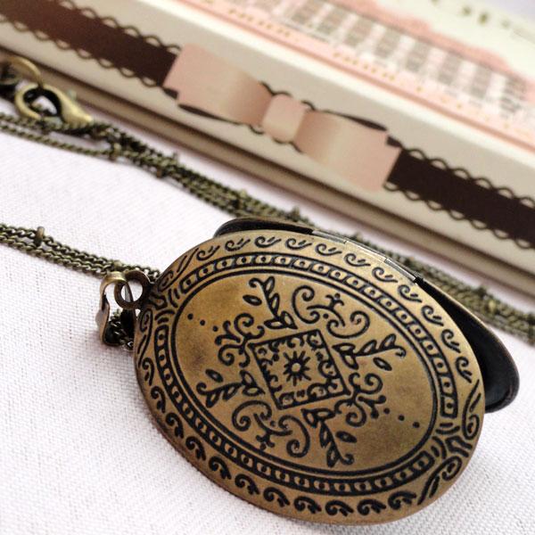 médaillon perles du temps, bijou pendentif porte-photo