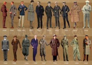 1920-1930 style de vêtements pour hommes