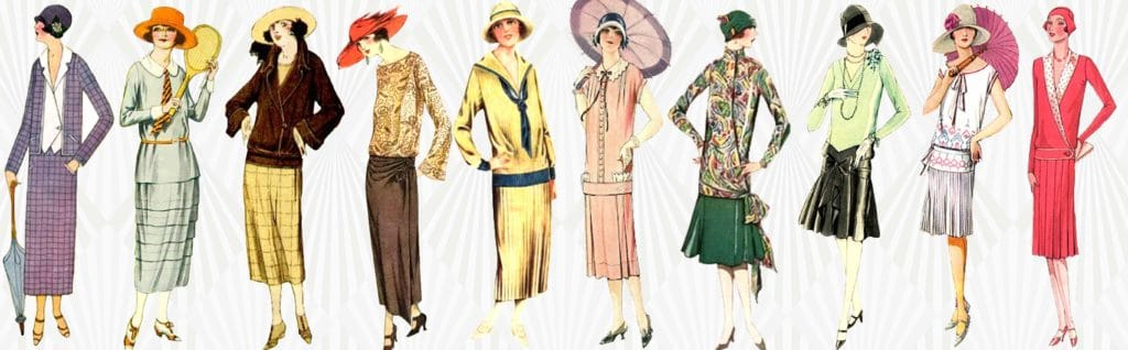 Illustration tenues robes années 1920