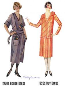 Illustration exemple robe années 1920