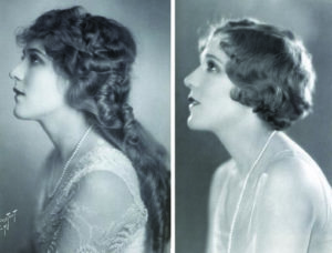 Mary Pickford cheveux coupés changement coiffure 1920